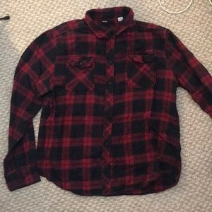 BDG PLAID BUTTON DOWN